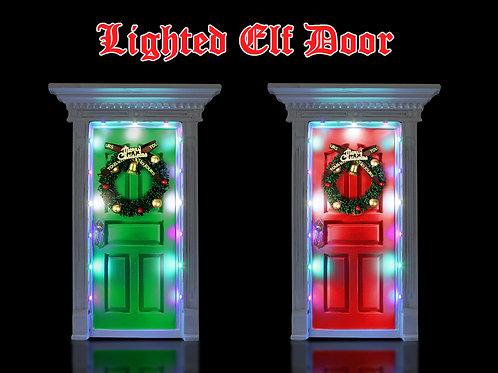 CHRISTMAS SECRET LIGHT UP RED OR GREEN  DOOR