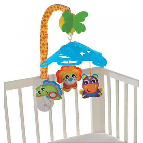 PLAYGRO ELEPHANT'S FRIENDS MUSICAL MOBILE