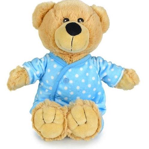KORIMCO BUDDY BEAR IN A BLUE BODYSUIT BNWT 28CM NURSERY COLLECTION