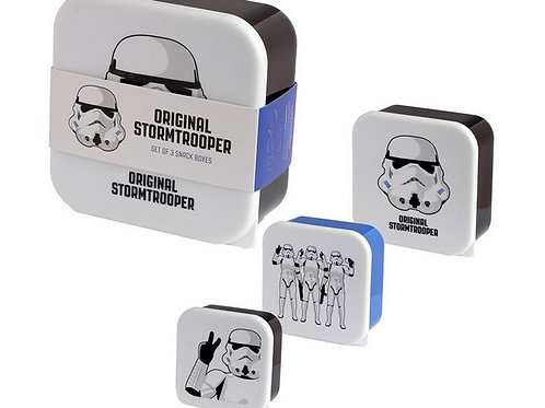 THE ORIGINAL STAR WARS STORMTROOPER LICENSED LUNCH BOXES NESTED SET OF 3