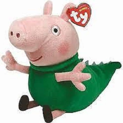 TY BEANIE BABIES PEPPA PIG GEORGE IN DINO COSTUME