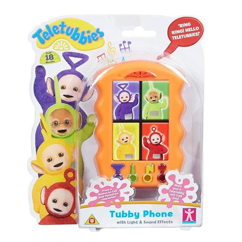 TELETUBBIES TUBBY PHONE WITH LIGHT AND SOUND EFFECTS
