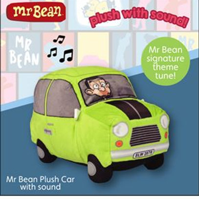 MR BEAN PLUSH CAR WITH SOUND PLAYS THEME TUNE 20CM