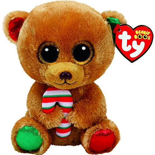 BELLA THE CHRISTMAS BEAR TY BEANIE BOOS  23CM MEDIUM SIZE
