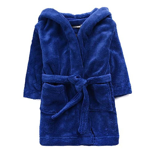 BOYS HOODED FLEECY DRESSING GOWN BNWT SIZES 3 , 4 AND 7