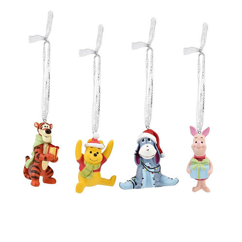 DISNEY WINNIE THE POOH AND FRIENDS 3D CHRISTMAS TREE HANGING ORNAMENTS