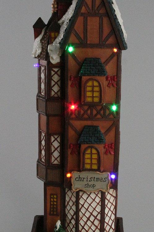 LIGHT UP CHRISTMAS TALL HOUSES THE CHRISTMAS SHOP