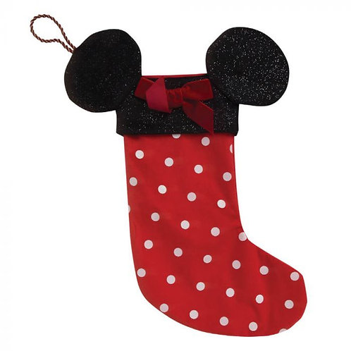 DISNEY MINNIE MOUSE CHRISTMAS RED NOVELTY STOCKING  MINNIE EARS WIDDOP & CO