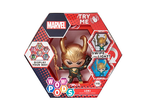 WOW ! POD MARVEL LOKI 113 SERIES 1 SWIPE TO LIGHT