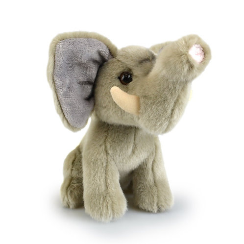 GREY ELEPHANT 18 CM KORIMCO LIL FRIENDS THE ECO  PLUSH TOY  AND ECO FRIENDLY TAG