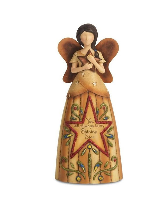 COUNTRY SOUL 29048 SHINING STAR ANGEL FIGURINE HOLDING STAR 19CM / 7.5""