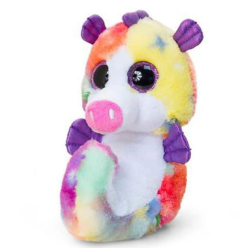 KORIMCO ANIMOTSU KEEL TOYS BEANIE 15CM RAINBOW SEA HORSE CALLED SHELLY