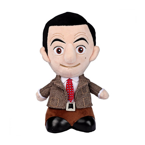 MR BEAN TALKING PLUSH 24CM TWEED JACKET TIE AND SHINY SHOES