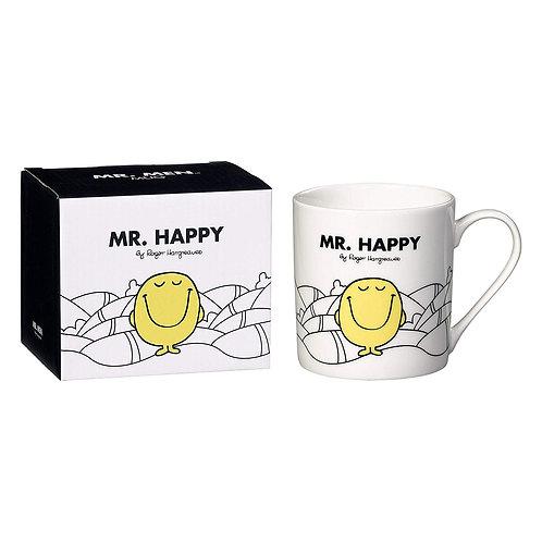MR MEN MR HAPPY WHITE MUG BONE CHINA GIFT BOXED