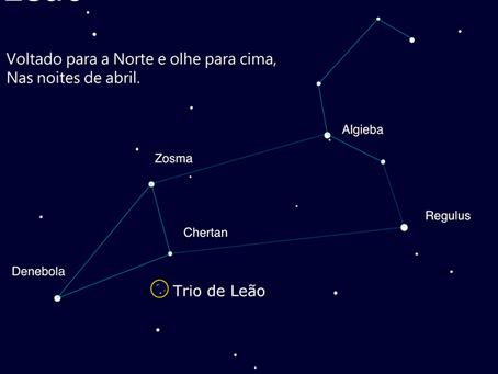 Observando o Leão: maravilhas celestiais na constelação do outono