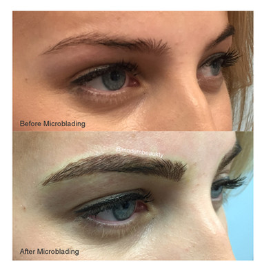 Microblading Brows Before and After Madison WI