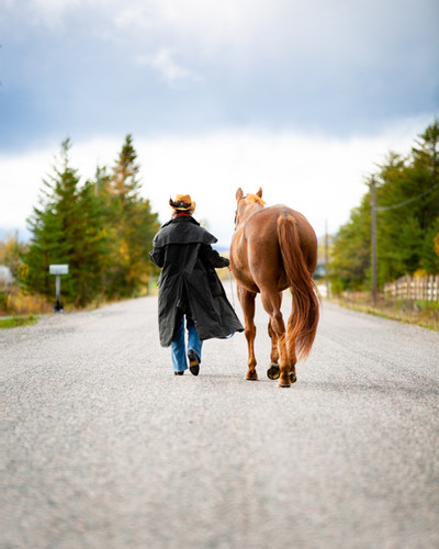 Mom and our Horse