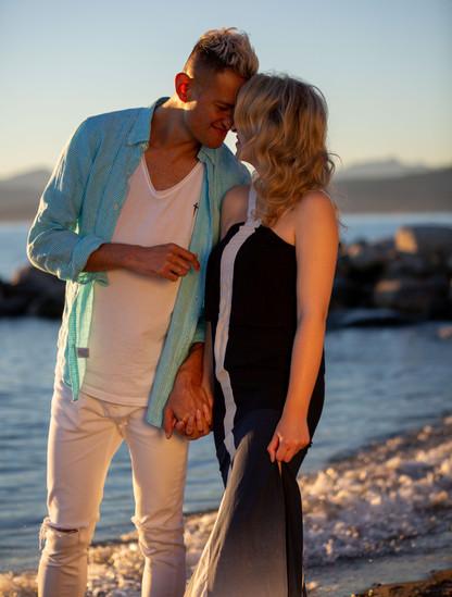 Emma and Bernard Beach Engagement Shoot
