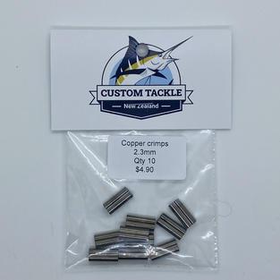 Copper crimps 2.3mm (10 pk) - $4.90