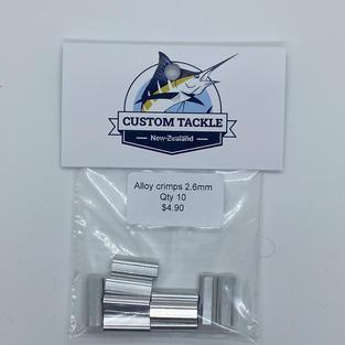 Alloy crimps 2.6mm (10 pk) - $4.90