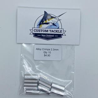 Alloy crimps 2.3mm (10 pk) - $4.90