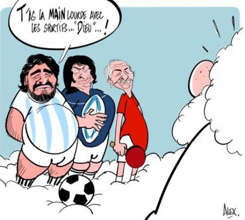 Dessin, Alex, Maradona, Dominici, Secrétin, Dieu