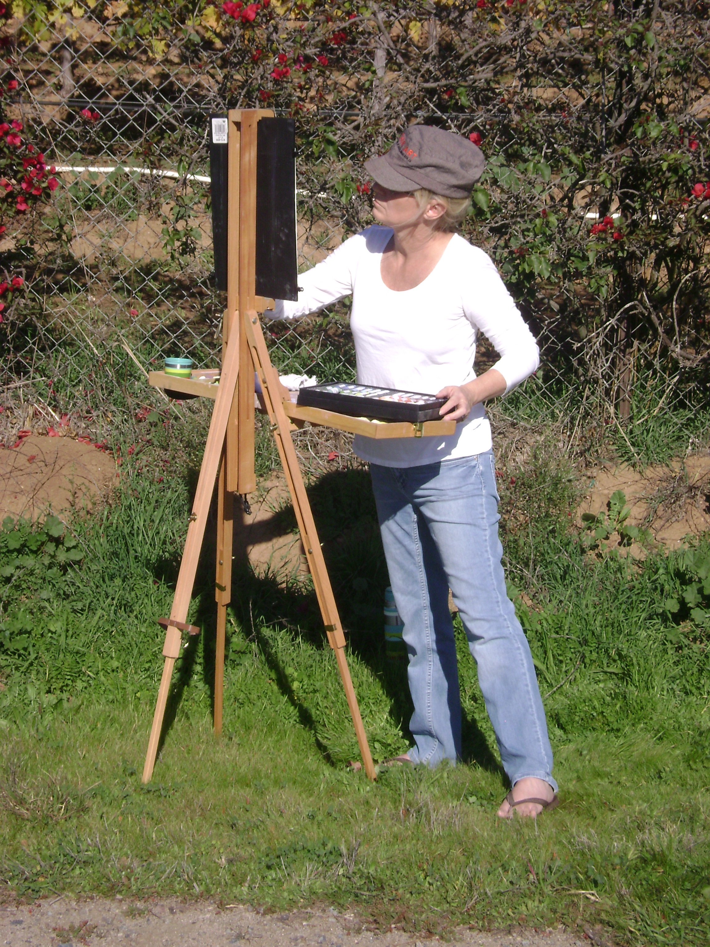 Painting at Fallbrook Winery