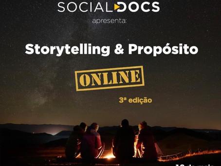 Vem aí a terceira edição do evento Storytelling e Propósito online!