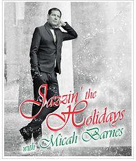 Micah Barnes jazzin the holidays postcar