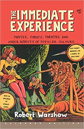 Cover of The Immediate Experience book featuring a woman in a space suit on an alien planet being attacked by a tentacled alien-monster while a man in a space suit runs to her rescue.