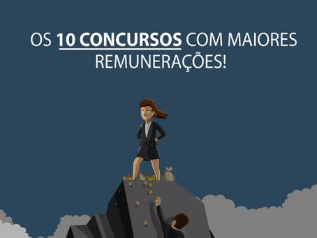 Os 10 concursos com maiores remunerações!