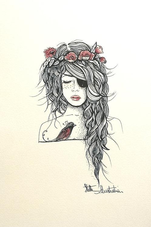 Princesse Pirate rose / keep a Breast