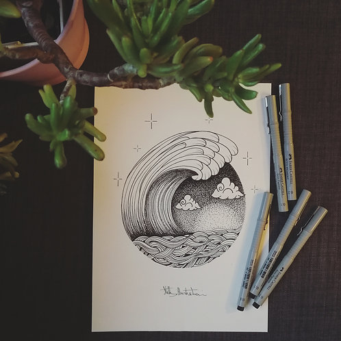 """Bubble wave"" by Stelle illustration"
