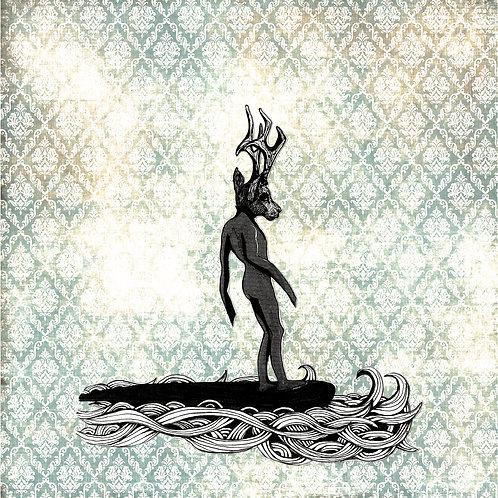 """""""Surfer Deer VI"""" de Stelle Illustration"""