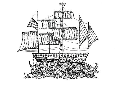 """""""Ocean Dance"""" de Stelle Illustration"""