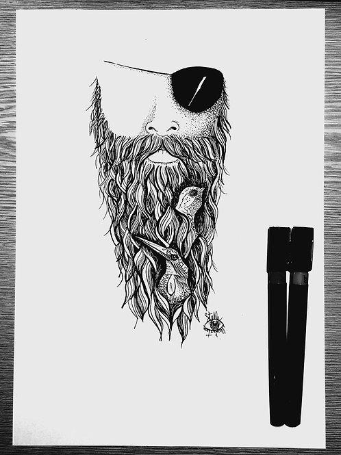 """Pirate"" Stelle illustration"