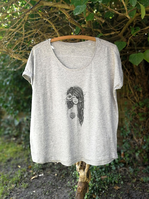 T. Shirt S Mermaid Princess grey