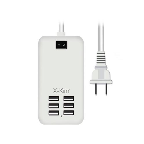 X-KIM MULTITOMA USB 6 PUERTOS CONEXION CORRIENTE