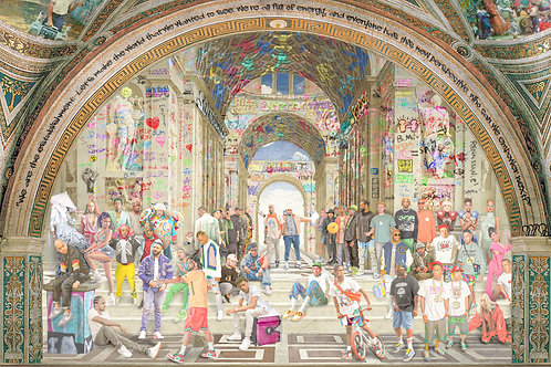 School of Athens Remix Print