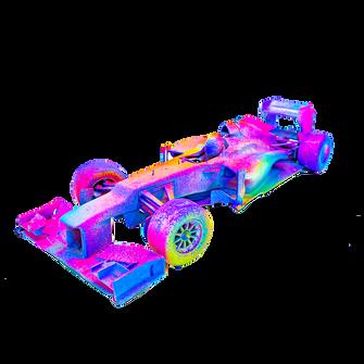 """""""Fleuorescent"""" F1 Car"""