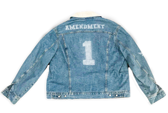 """1st Amendment"" Denim Jacket"