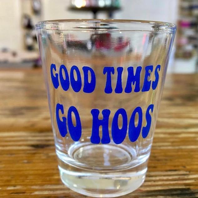 UVA themed shot glass