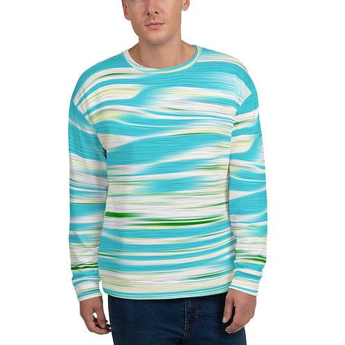 Teal and Green Unisex Sweatshirt