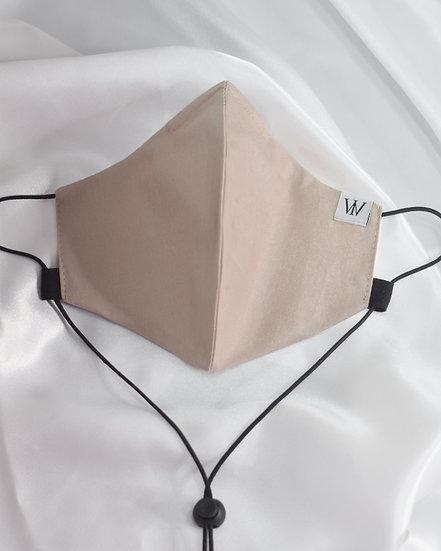 Beige - Adjustable Face Mask