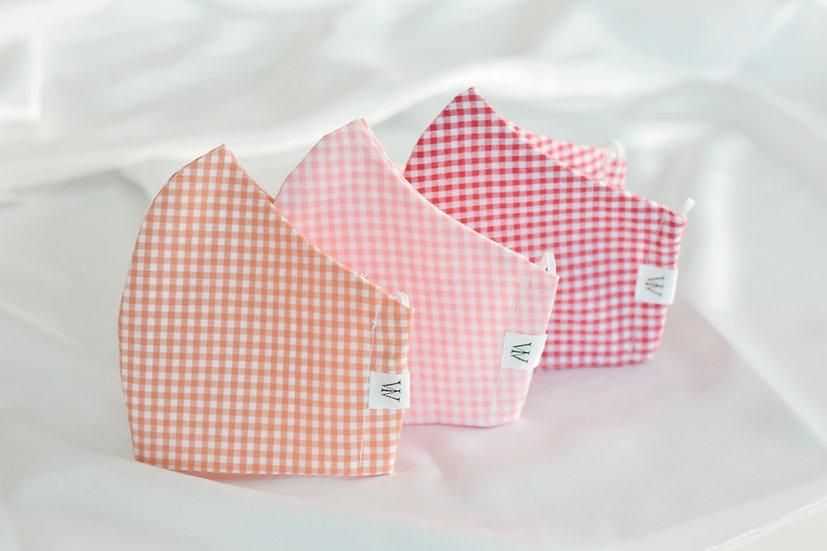 Pink Squares - Face Mask