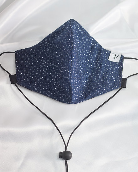 Navy Blue - Adjustable Face Mask