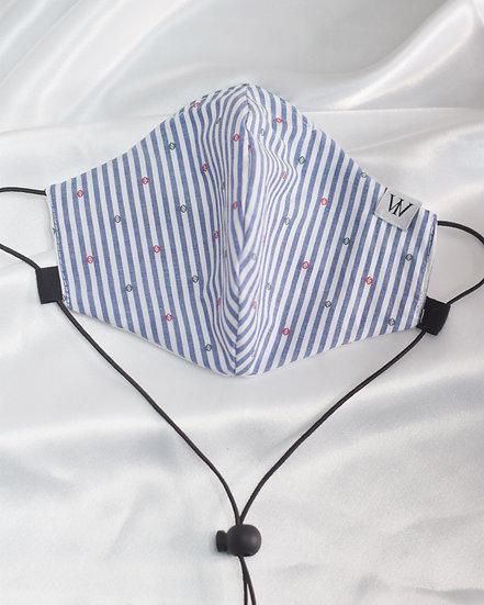 Blue Stripes - Adjustable Face Mask