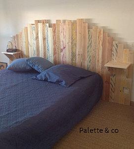 Palette co lits et t tes de lit - Tete de lit en palette a vendre ...