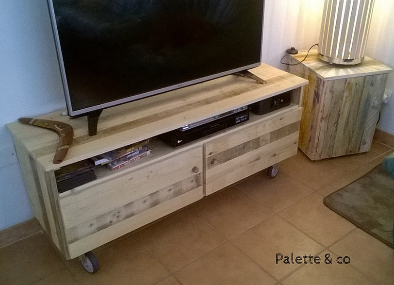 Palette & co  Meubles tv -> Meuble Tv En Palette