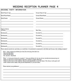 Bridal Party Announcements